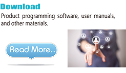 Product programming software, user manuals, and other materials